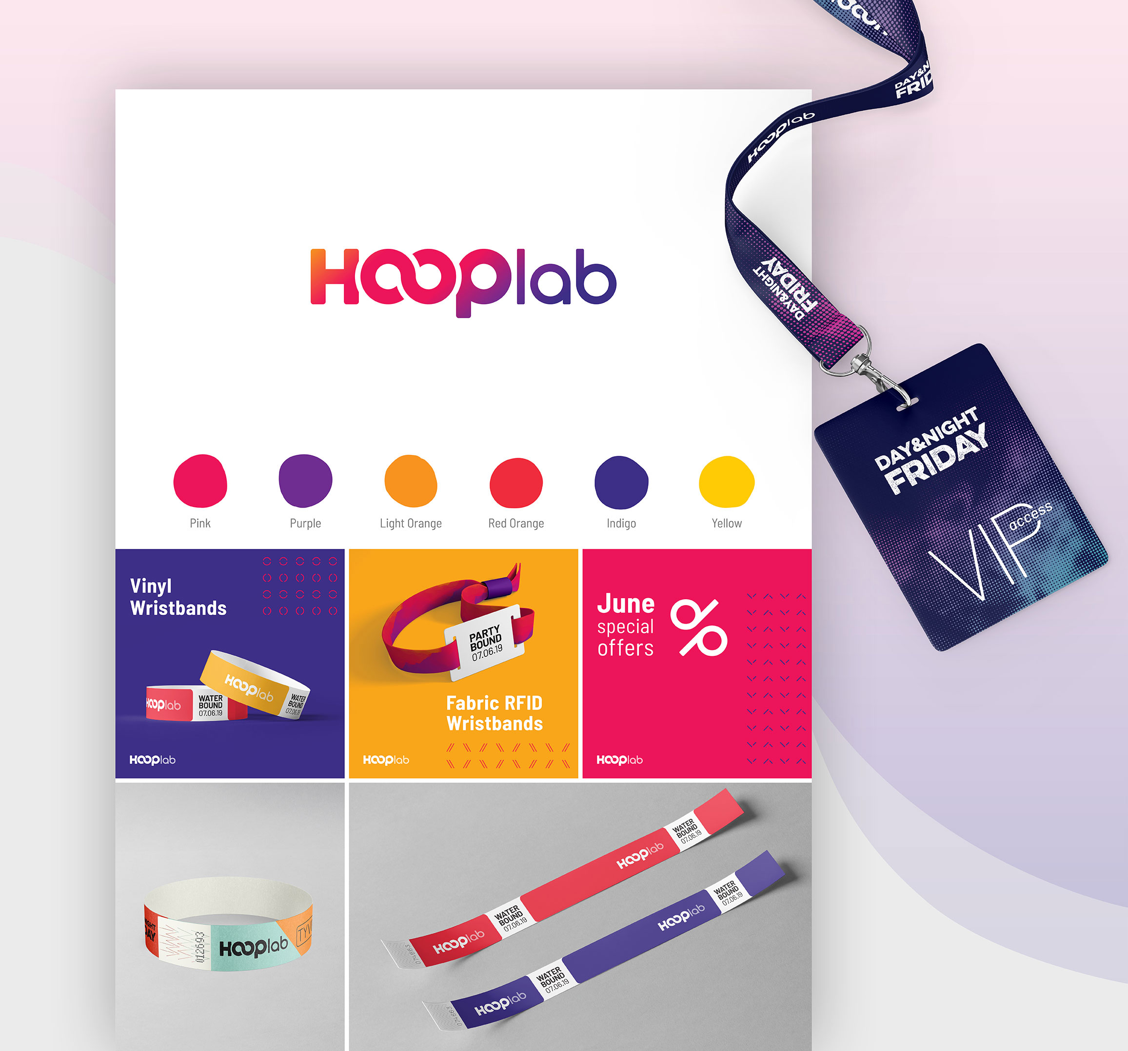 HoopLab Logo Design and Branding by Norr and Echo