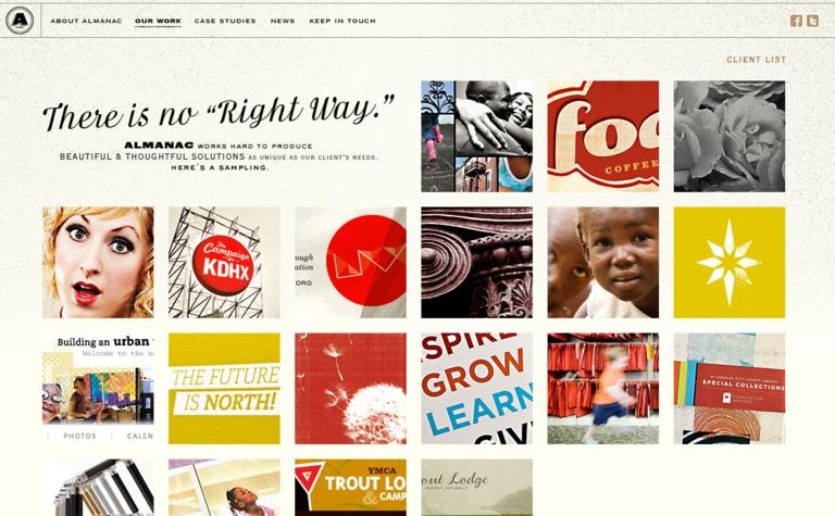 Almanac Website Design