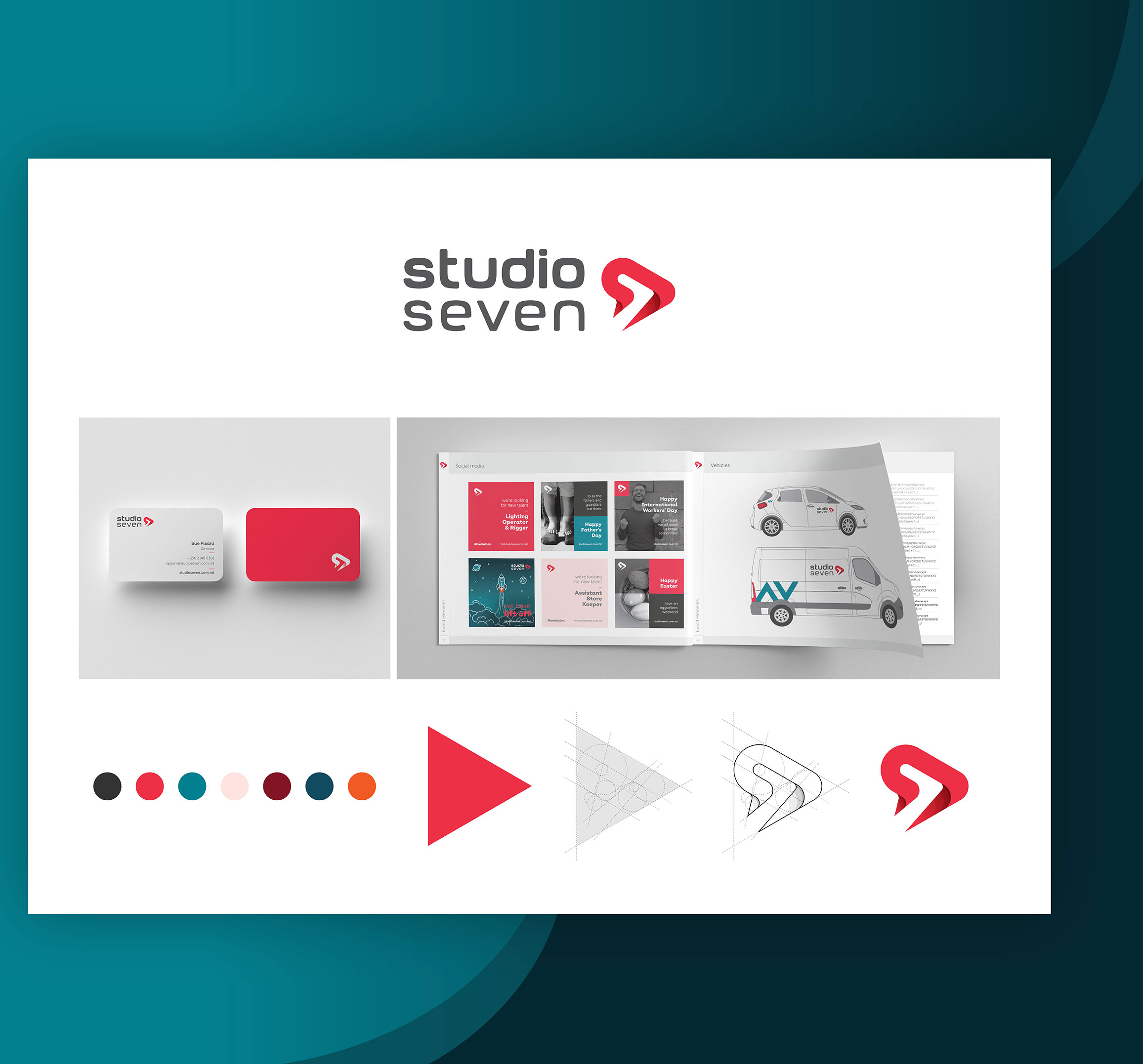 Studioseven logo design and rebrand by Norr and Echo
