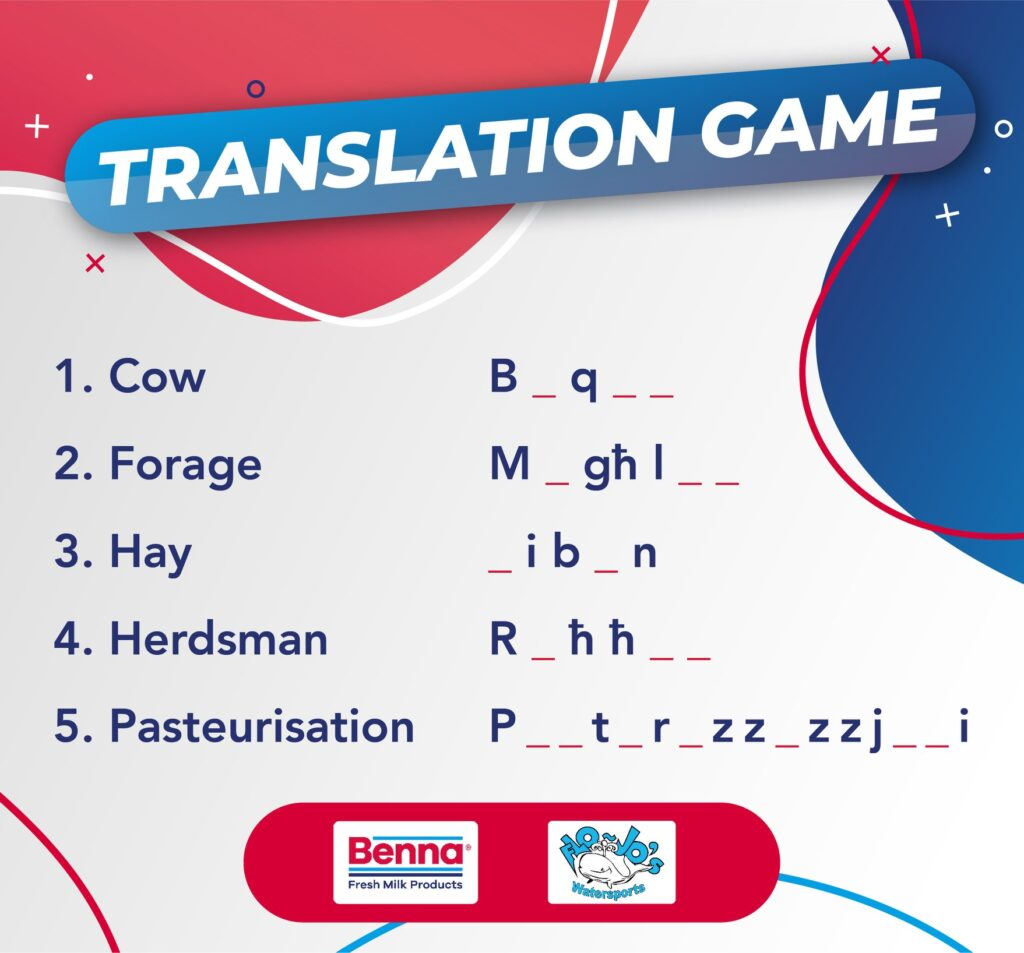 Benna translation game